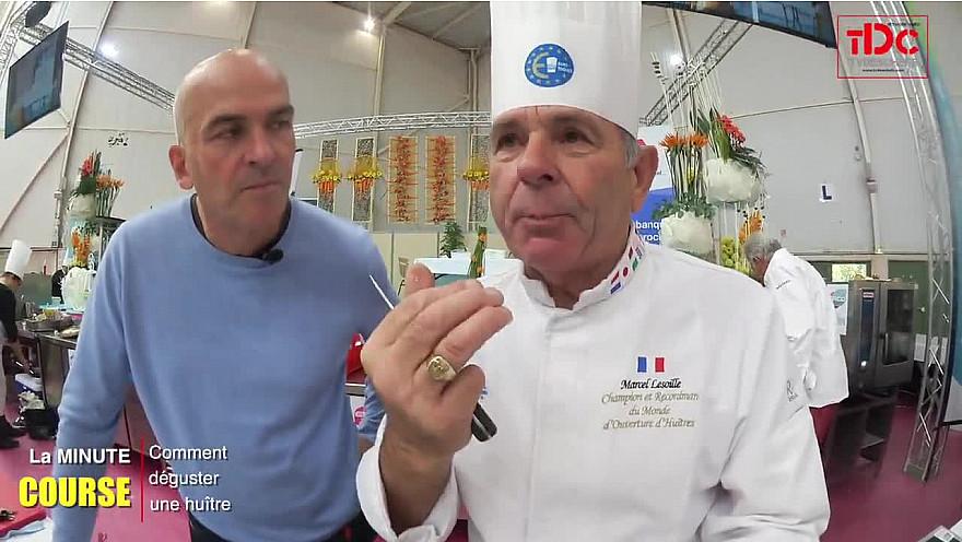 La Minute Course - Marcel Lesoille - Comment déguster les huîtres - @Tvdeschefs - @Smartrezo